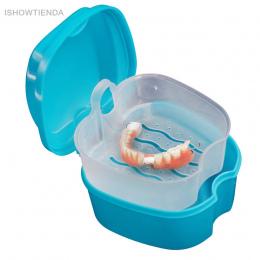 ISHOWTIENDA Kąpieli Box Case Dental Fałszywe Fałszywe Protez Zębów Zęby Schowek z Wiszące Netto Pojemnik Rodziców Zdrowa Pielęgn