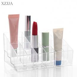 XZJJA Akrylowym Makijaż Organizatorów 24 Lipstick Stojak Uchwyt Organizator Kosmetyczne Makijaż Case Różnego Typu Schowek