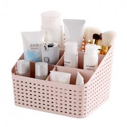 Stylowa Hollow Projekt Plastikowe Kosmetyczne Schowek Biurko Zdalnego Sterowania Makijaż Szczotka Uchwyt Biuro Łazienka Toaletow