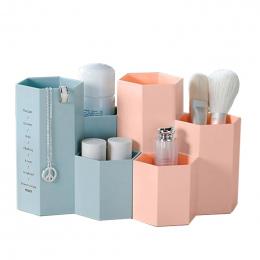 Kosmetyki Do Makijażu Pędzle Plastikowe Pudełko Do Przechowywania Biżuterii Przypadku Biuro Przechowywania Łazienka Organizator