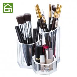 Przezroczysty Akryl Uchwyt Makeup Muśnięcie Kosmetyczne Organizator Box dla Szminka Eyeliner Ołówek Nail Polski