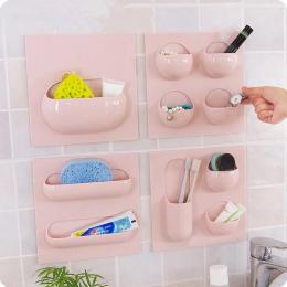 4 style Ściany Przyssawki Kuchnia Łazienka Regałach Można Używać Wielokrotnie Łazienka Organizator Przechowywania Półki