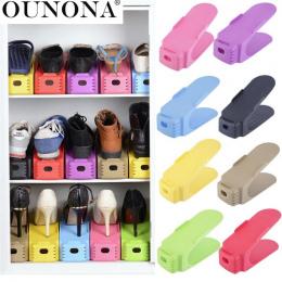 OUNONA 1 Opakowanie Plastikowe Buty Półek W Drzwiach Shleves Dwukrotnie Szeroki Uchwyt Zaoszczędzić Przestrzeń Buta Buty Organiz