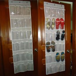 24 Kieszenie z Tyłu Drzwi Uchwyt Stojak Na Buty Buty Wiszące Storage Rack Darmo Paznokci Butów Organizator Zaoszczędzić Przestrz