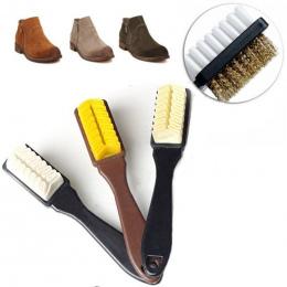 2-Sided Szczotka Do Czyszczenia Gumy Gumka Zestaw Fit dla Zamszu Nubuku Buty Stali + plastikowe + rubber Boot Cleaner