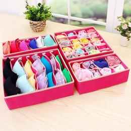 4 sztuk/zestaw Multifunct Składany Przechowywania Biustonosz Box Włóknina Fold Przypadki Krawat Skarpetki Bielizna Odzież Organi