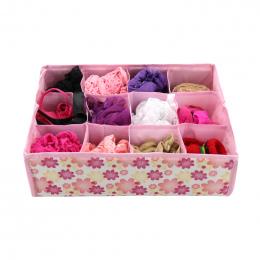 12 siatka Bielizna Biustonosz Organizator Storage Box Kolory Rose Szuflady Szafa Organizatorzy Pudełka Dla Bielizna Szaliki Skar