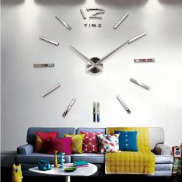 3d prawdziwe duży zegar ścienny zegar rzucili lustro naklejki ścienne diy salon wystrój domu mody zegarki przyjazd Kwarcowy zega