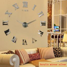 Promocja nowy wystrój domu duża roman lustro moda nowoczesne zegary Kwarcowe salon diy zegar ścienny naklejka zegarek darmowa wy