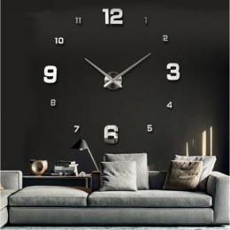 Nowy Zegar Ścienny Zegar Zegary Zegarek Horloge Murale Diy 3d Lustra Akrylowe naklejki Duży Dom Kwarcowy Okrągłe Igły Nowoczesne