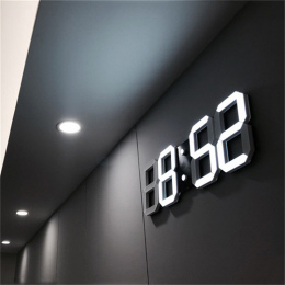 3D DOPROWADZIŁY Zegar Ścienny Nowoczesny Cyfrowy Tabeli Pulpit Budzik Nightlight Saat Zegar Ścienny Do Domu Salon Biuro 24 lub 1