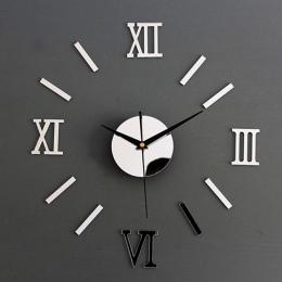Nowy Zegar Zegarek Zegary Ścienne Horloge 3d Diy Akrylowa Lustro Naklejki Dekoracji Domu Salon Igły