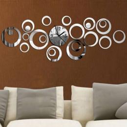 2017 Nowy Zegar Ścienny Kwarcowy Europa Projekt Reloj De Pared Duże Dekoracyjne Zegary 3d Diy Akrylowe Lustro Salon