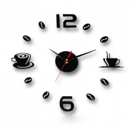 Kubki do kawy Kuchnia wall art 3d diy zegary ścienne zegar lustro nowoczesny design zegarki dekoracji domu DIY decor naklejki dz