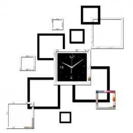 2016 salon nowy zegar ścienny 3d diy zegary home decoration zegarek horloge murale kwarcowy akrylowa lustro naklejki darmowa wys
