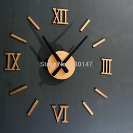 Rzym Numer Cyfrowy zegar ścienny diy 3d lustro Milczy Zegar Akrylowe Krótkie Wyciszenie DIY zegar ścienny nowoczesny design Hurt