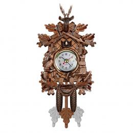 Kukułka Zegar Ścienny Ptak Budzik Drewna Wiszące Zegar Czas dla Domu Restauracja Jednorożec Dekoracji Sztuki Rocznika Huśtawka S