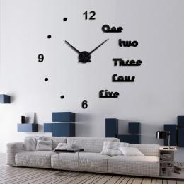 Nowy zegar ścienny 2017 projekt reloj de pared zegarek kwarcowy duże dekoracyjne diy zegary nowoczesny salon akrylowe 3d naklejk