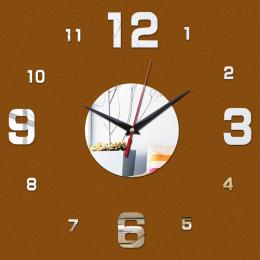 2016 nowy diy zegar ścienny cyfrowy zegary zegarek horloge akrylowe 3d naklejki lustro morden pokój dzienny martwa natura kwarco