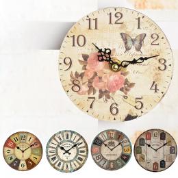 12 cm stare retro dekoracji wnętrz zegar ścienny home decoration MDF zegar kwarcowy wyciszenia zegar salon wisiorek dekoracji