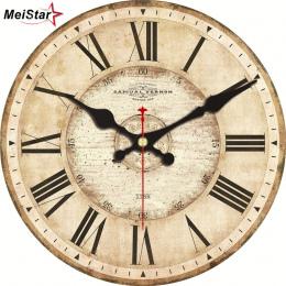 MEISTAR 5 Wzory Rocznika Zegary Ścienne Roman Liczba Projekt Cichy Pokój Dekoracje Home Decor Zegarki Duże Zegary Ścienne