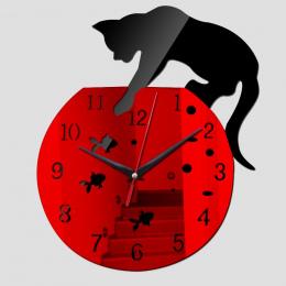 2017 nowy zegar ścienny hot sprzedaż nieruchomości zegary reloj de pared nowoczesny design qua salon igły akrylowe europa horlog
