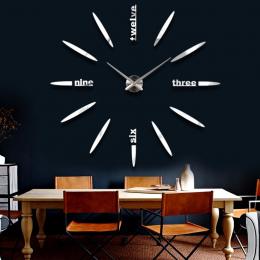 Sprzedaż Nowy Zegar Ścienny Zegar Zegary Zegarek Naklejki Diy 3d Akrylowe Lustro Dekoracji Domu Kwarcowy Balkon/dziedziniec Igła