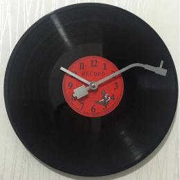 Okrągły kwarcowy Rocznika zegar ścienny nowoczesny design CD Czarny Vinyl Record Zegar Duvar Saati Horloge Mural kuchnia zegarek