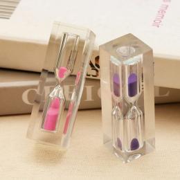 6 kolor Opcjonalnie 3 Minut Zegar Klepsydra Piasek Zegar Dla Dzieci Brush Zęby Tabeli Zegar Dekoracji Małe