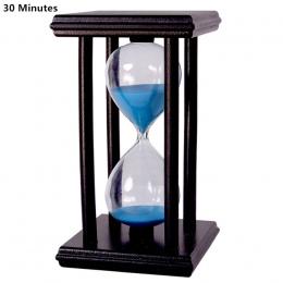30 Minut Krystalicznie Przejrzyste Timer Klepsydra Klepsydra Piasek Zegar Reloj De Ampulheta Arena Z Drewnianym Uchwytem Wystrój