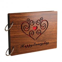 Drewno Kreatywny Ręcznie Luźnych kartkach Księga Gości Albumy 8 Cal Pamiątkowe Dziecka Album fotograficzny Album Ślubny