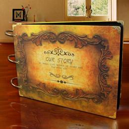 8 Styl Uwalnia Statek Hot 10 Cal Butterfly Diy Handmade Vintage Wedding Photo Album Scrapbooking Albumy dla Kochanka Dziecko Cra