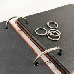 10 sztuk/zestaw Home Decor Luźnych kartkach Księga Gości Album Karty Vintage Bronze Koło Pierścień Klamra Snap Pierścień Wiązani