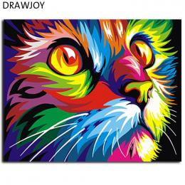 Streszczenie Oprawione Oleju Farby MAJSTERKOWANIE Malowanie Numerów Kolorowanie Według Numerów Kolorowe Zwierzęta Home Decoratio