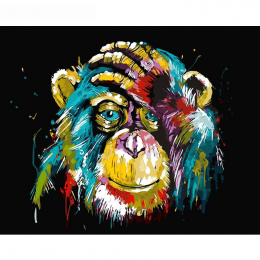 Bezramowe GATYZTORY Baboon Zwierząt DIY Malowanie Liczby Wall Art Obraz Farby Według Numeru Płótno Do Domu Wystrój Grafika