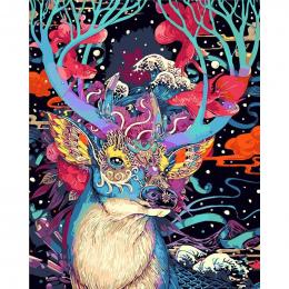 Boże narodzenie deer zwierząt zestawy diy malowanie by numbers bezramowe ręcznie malowane obraz olejny wyjątkowy prezent dla dom