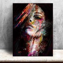 Zdjęcia wydruki na płótnie Malarstwo Ścienne Sztuki kolorowe kobieta na płótnie bez ramki home decor plakat dekoracje Ścienne dl