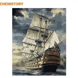 CHENISTORY Żaglowiec DIY Malowanie Przez Numery Rysunek Malowanie Przez Numery Zestawów Farby Na Płótnie Home Wall Art Picture 4