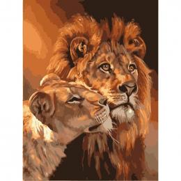 Bezramowe Lew Zwierząt DIY Malowanie Przez Numery Zestawów Kolorystyka Obraz Olejny Na Płótnie Rysunek Domu Grafiki Wall Art Pic