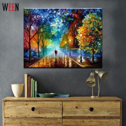 Wsi malarstwa pejzażowego ween by numer diy farby olejne 40x50 cm płótnie Miłośnicy sztuki Spacery na Ulicy Obraz Olejny Home De