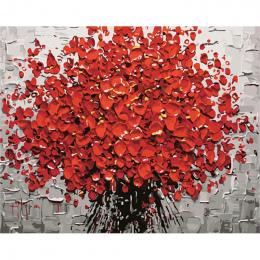 Bezramowe czerwony kwiat diy digital painting by numbers akrylowa farba abstrakcyjna nowoczesne wall art canvas malarstwo dla ho