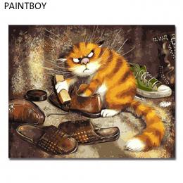 Oprawione Zdjęcia Malowanie Przez Numery PAINTBOY Zwierząt Handwork Płótnie Obraz Olejny Home Decor Dla Pokoju Gościnnego GX3221