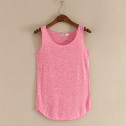 Wiosna Lato Nowa Siłownia Tank Tops Kobiety Bez Rękawów Szyi Round Loose T Shirt Ladies Vest Podkoszulki Koszulki Szczupła Kobie
