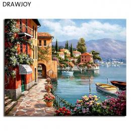 Oprawione Zdjęcia Malowanie DIY Numerami Dekoracji Domu Dla Pokoju Gościnnego DIY Cyfrowy Obraz Olejny Na Płótnie GX6917 40*50 c