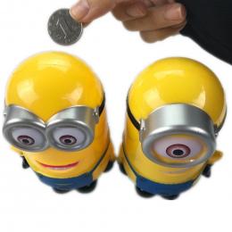 Miniony Minion Piękny 3D Cartoon Figures Skarbonka Skarbonka hucha Cent Penny Saving Coin Dzieci Zabawki zabawki Dla Niemowląt ś
