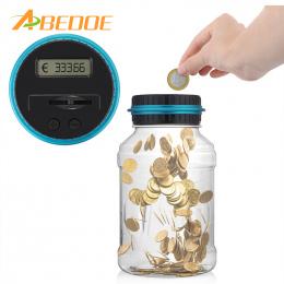 LCD elektroniczny Cyfrowy Liczenie Monety Banku Pieniądze Zapisywanie Box Jar wyświetlacz Licznik GBP Pieniądze Skarbonka Dla EU