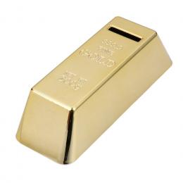 ABS Plastikowe Skarbonka Złota Cegły Coin Box Case Saving Money Box dla Dzieci Dzieci Urodziny Prezenty Wystrój Domu