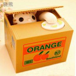 Śliczne Automatyczne Stole Monety Skarbonka Panda Biały Kot Skarbonki Pieniądze Zapisywanie Box Skarbonka Prezenty Dla Dzieci