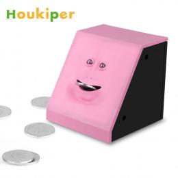 Houkiper Twarzy Automatyczne Banku Żucia Skarbonka Monety Banku Box Pieniądze Gotówka Oszczędność Sejf Twarzy Banku Prezent dla