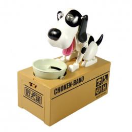 1 pc Robotic Pies Pieniądze Zapisywanie Box Money Bank Automatyczne Stole Monety Skarbonka Skarbonka Zabawki Prezenty dla Dzieci